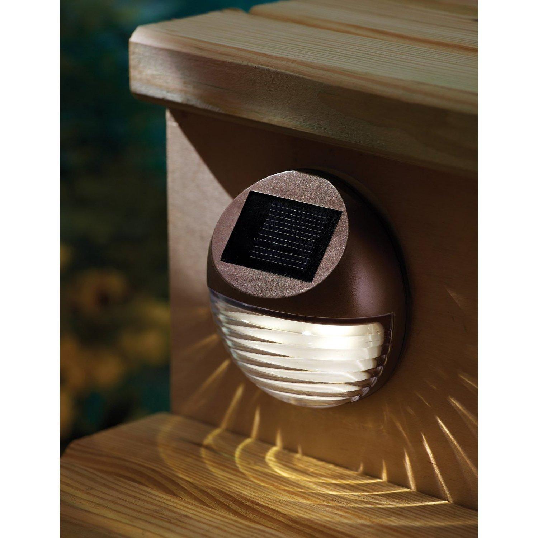 Solalux Set Of 4 Decorative Wireless Garden Solar Lights Weatherproof  Outdoor Fence Lamps   Second Gen Version: Amazon.co.uk: Lighting