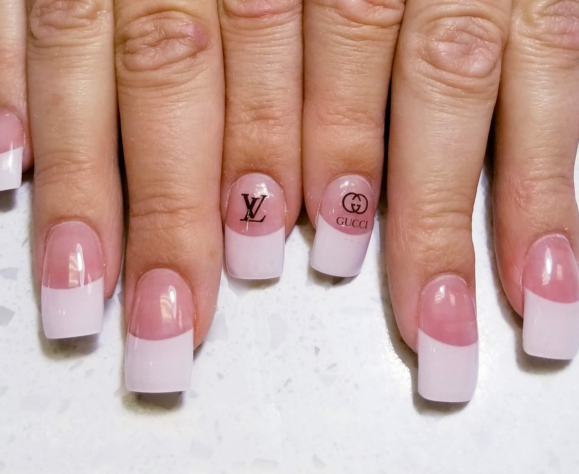 Elegant Nail Art-Decal Fun Luxury Nail Stickers-Designer - Toenail Sticker - Manicure-Acrylic Gel Nail (YL) by Shop2Beat