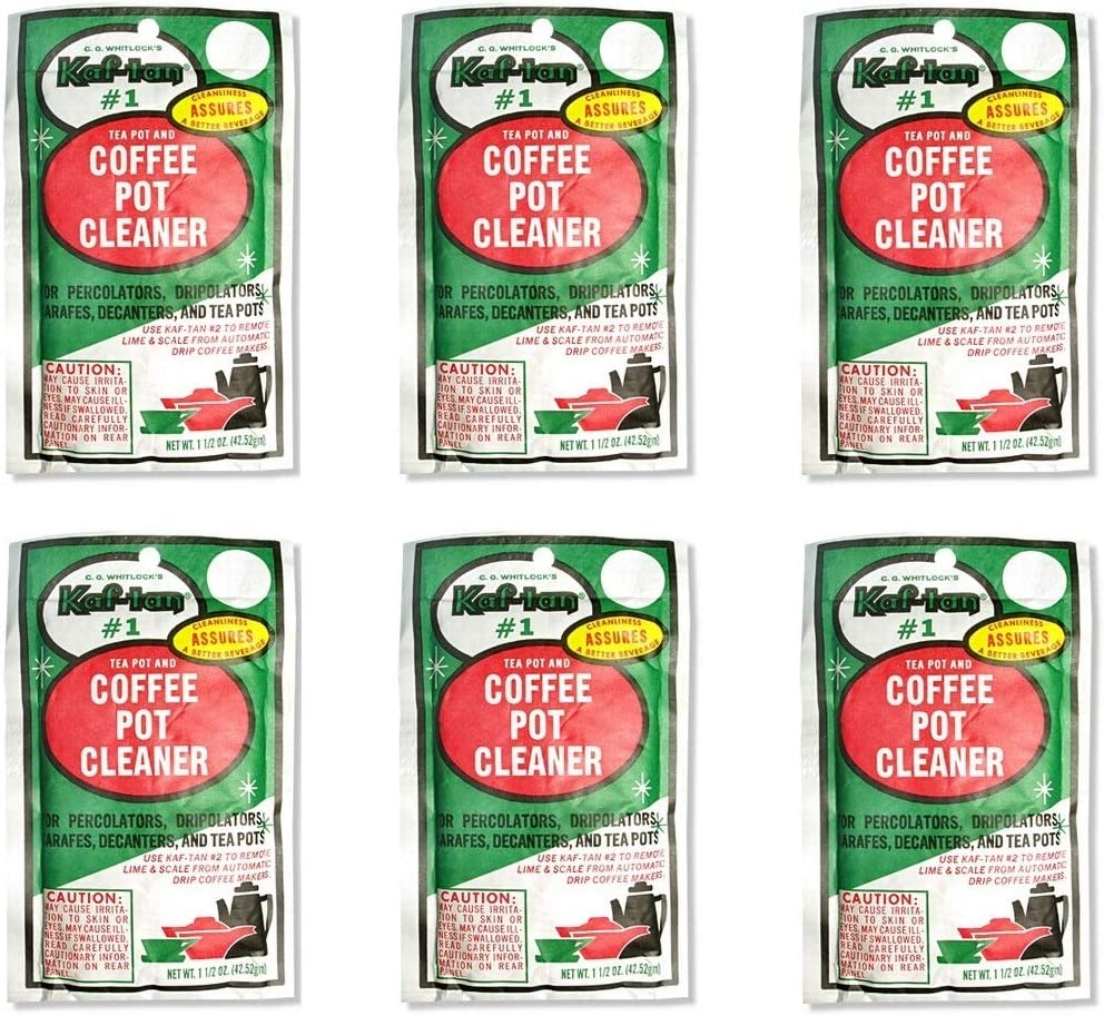 C. G. Whitlock's Kaf-tan KT-1 Coffee Pot and Tea Pot Cleaner 6 Pieces