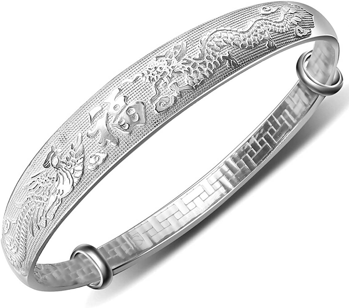 Amazon.com: Merdia Women's 999 Solid Sterling Silver Chinese ...