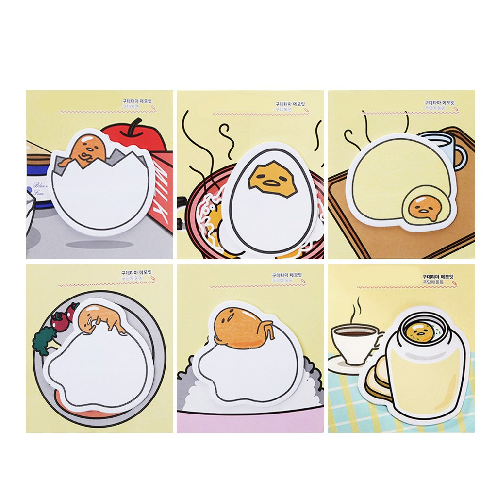JUNESUN Cute Egg Sticker Bookmark Memo Pad Sticky Note Bookmark School Office Supply