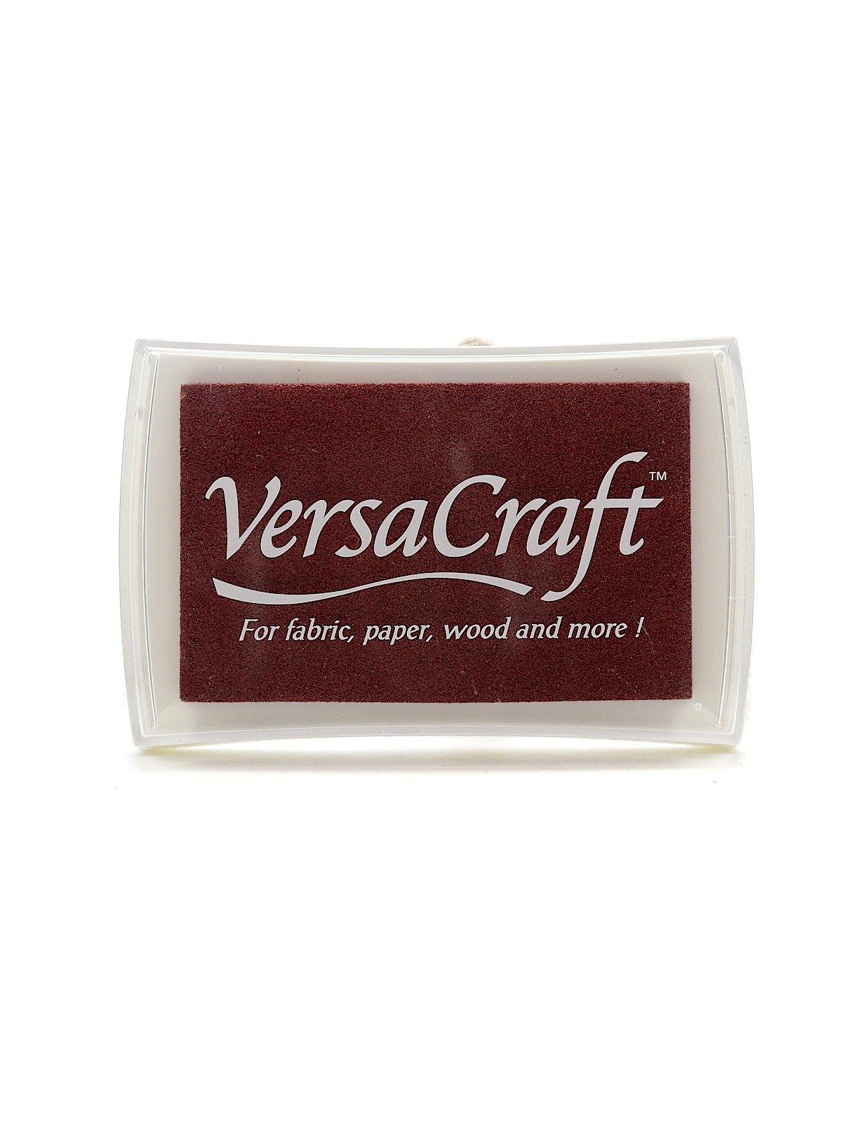 Tsukineko VersaCraft Ink chocolate 3.75 in. x 2.5 in. pad [PACK OF 2 ]