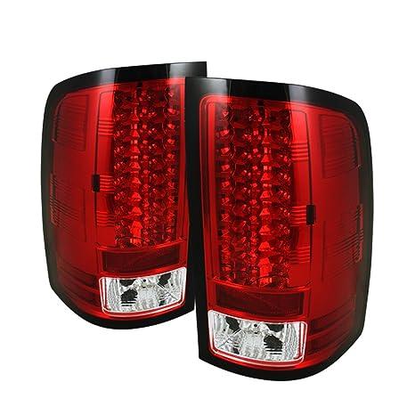 amazon com: spyder auto alt-yd-gs07-led-bk gmc sierra 1500/2500hd black led tail  light: automotive