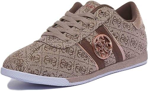 Guess Scarpe Donna Sneaker Bassa MOD. RYLINN Tessuto Beige