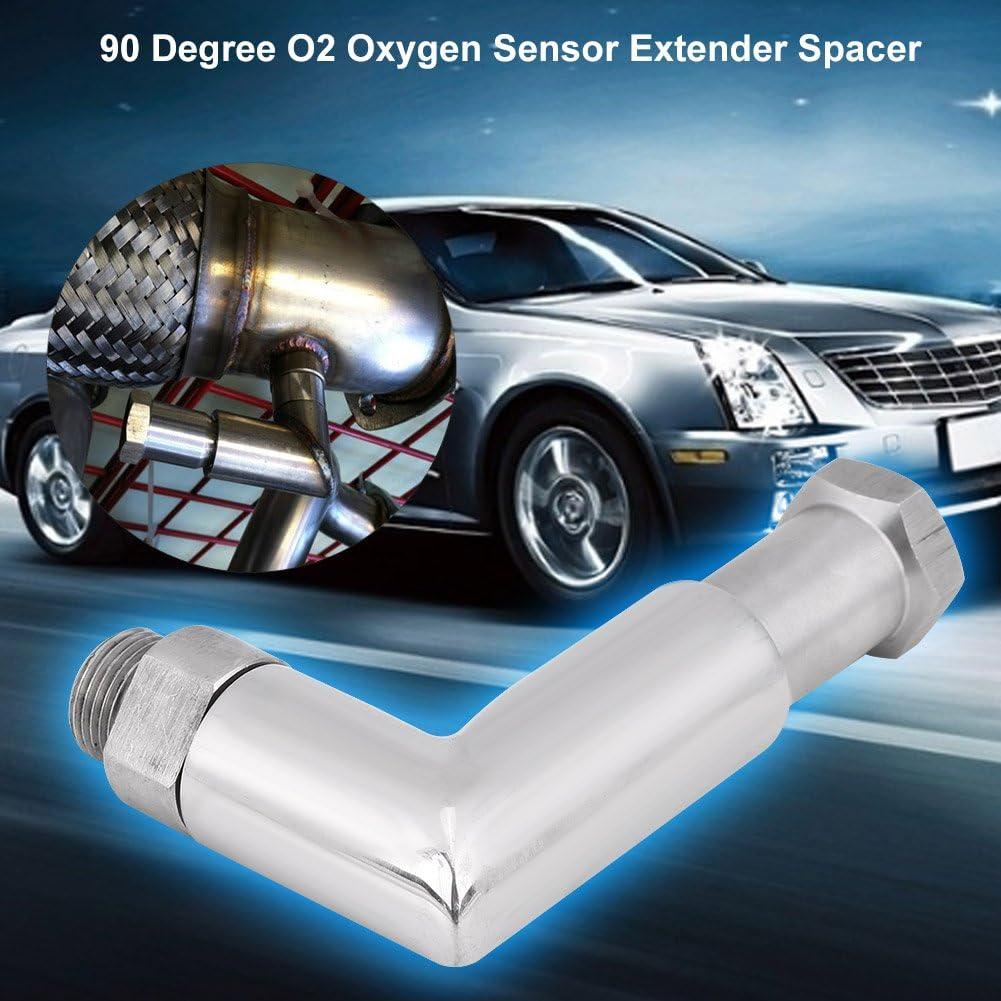 M18*1.5 O2 Oxygen Sensor Angled Extender Spacer 90 Degree Exhaust Extension Suuonee Oxygen Sensor Extender