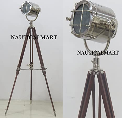 Nauticalmart Floor Lamp Heavy Build Vintage Design Tripod Lighting