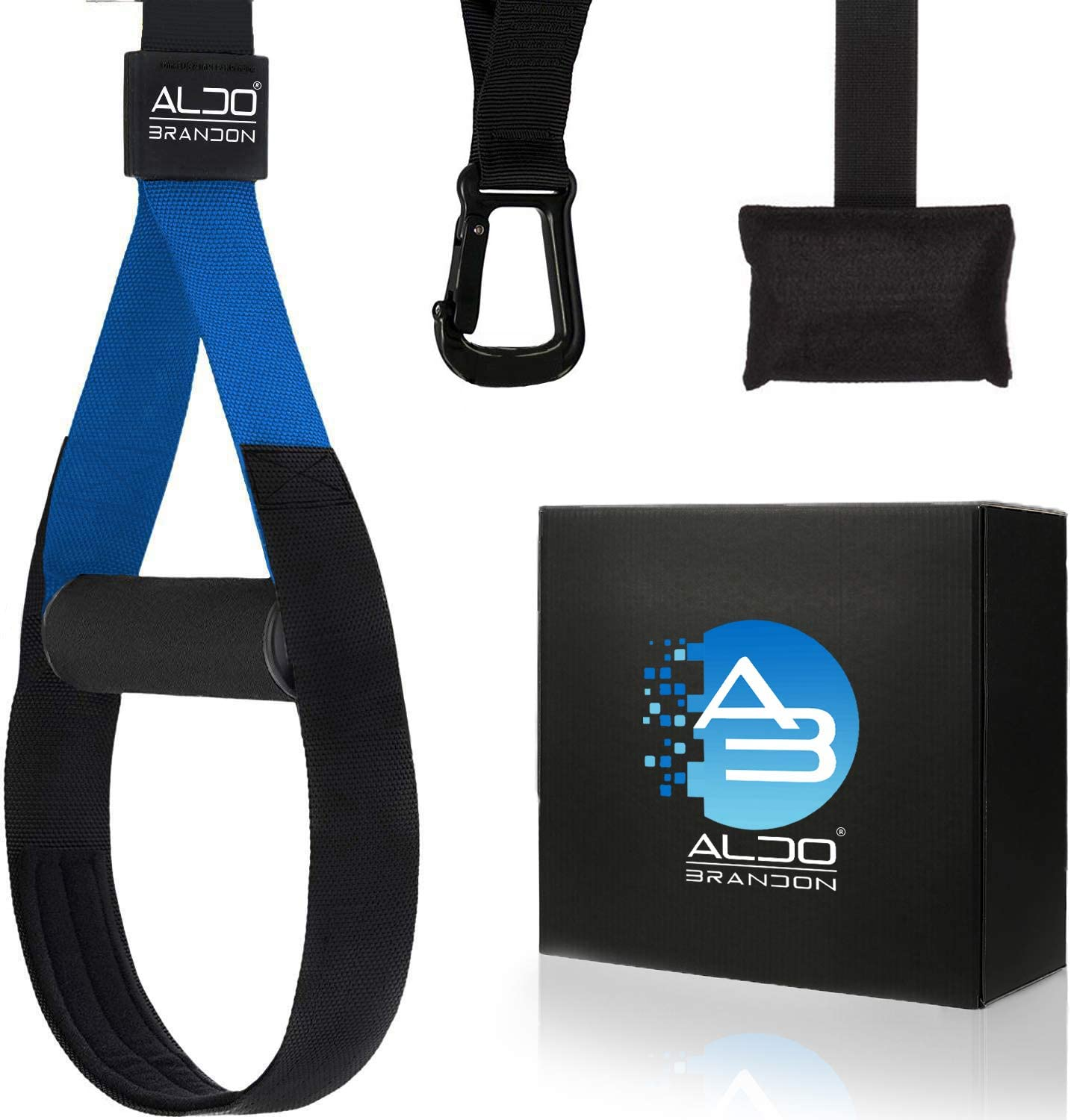 Aldobrandon Suspension Trainer: Home Kit & Workout Straps. Full Body Gym All Levels & Goals. Replace Training like Gym Weights, Training Bands & Gym