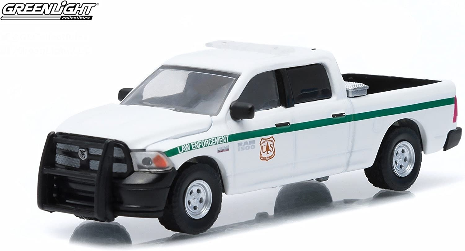 2014 Dodge Ram 1500 United States Forest Service Police USFS Hobby Exclusive 1//64 by Greenlight 29813