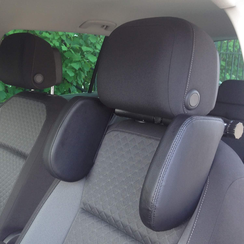 reposacabezas y cuello asiento de coche en forma de hueso Qiekenao Reposacabezas de asiento para el cuello de piel sint/ética