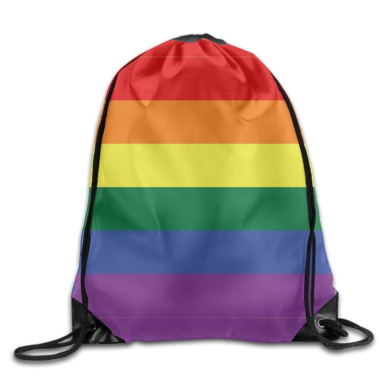 Gay Pride LGBT Flag Basic Eco-Friendly Drawstring Backpack