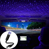 USB Star Projector Night Light, LEDCARE Car Roof Lights, Portable Adjustable Romantic Violet Blue Interior Car Lights…