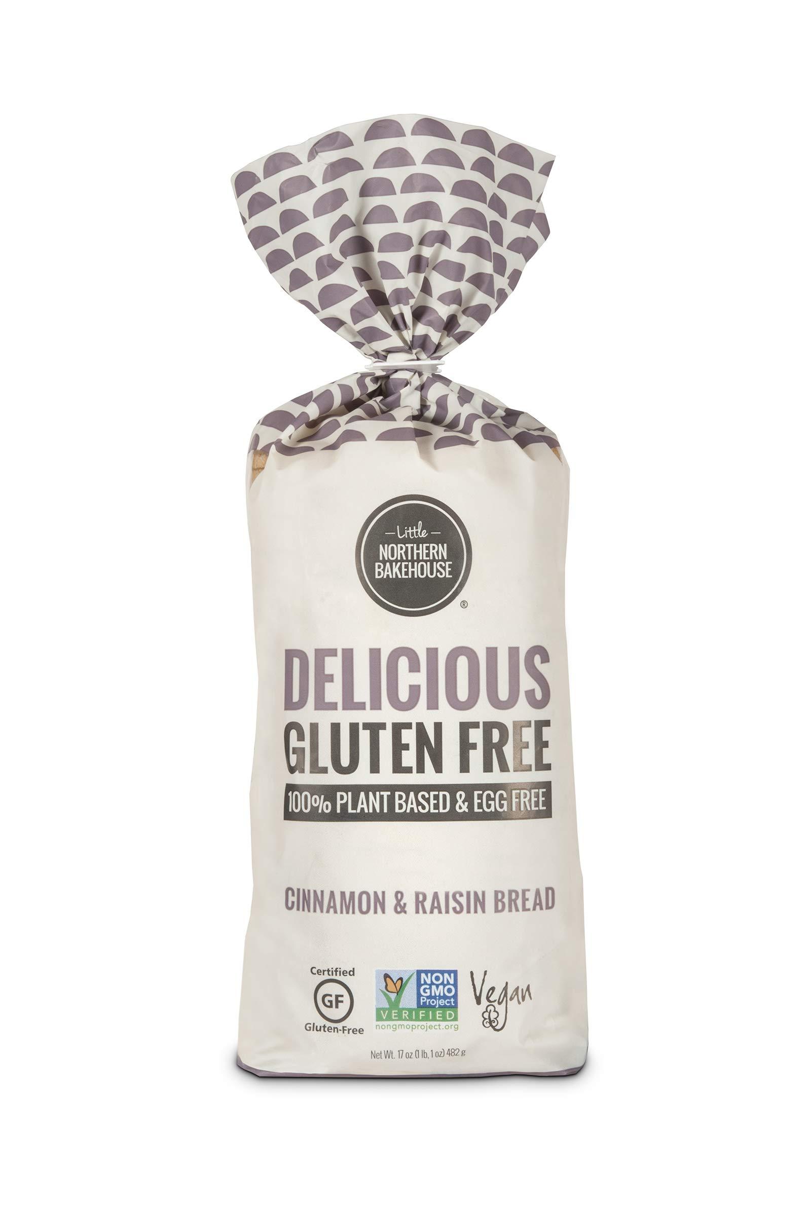 Little Northern Bakehouse Gluten Free Sliced Cinnamon Raisin Bread 17 ounce (Pack of 6)