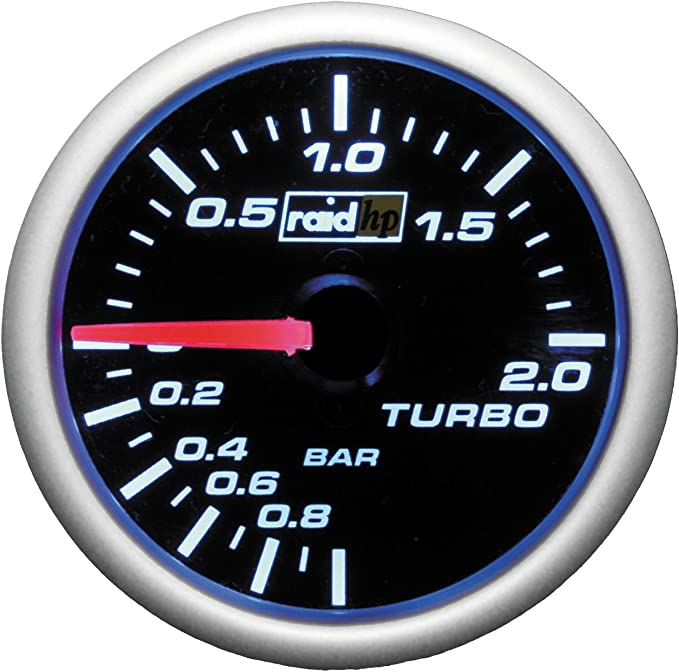 Raid Hp 660181 Ladedruckanzeige Zusatzinstrument Night Flight Blau Auto