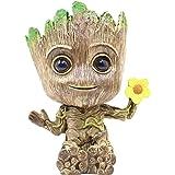 RedDreamer Groot Planter Pot, Baby Groot Flower-Shaped Model Succulent Planter Pot Cute Green Plants Pot Groot Flower…