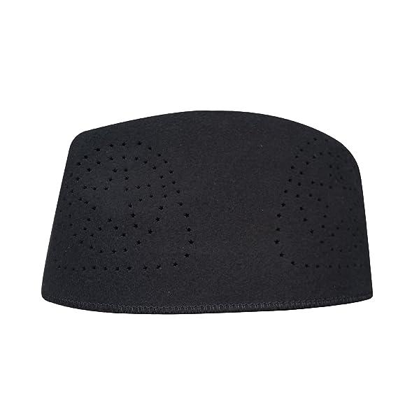 0d8e56032 TheKufi Black Fez African Hat Rigid Wool Felt Concaved Oval Kufi (XL ...