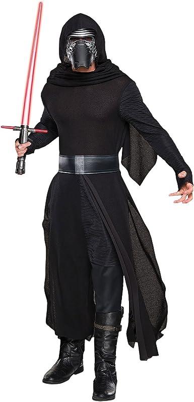 Star Wars - Disfraz caballero deluxe- Kylo Ren-4-piezas- Túnica con ...
