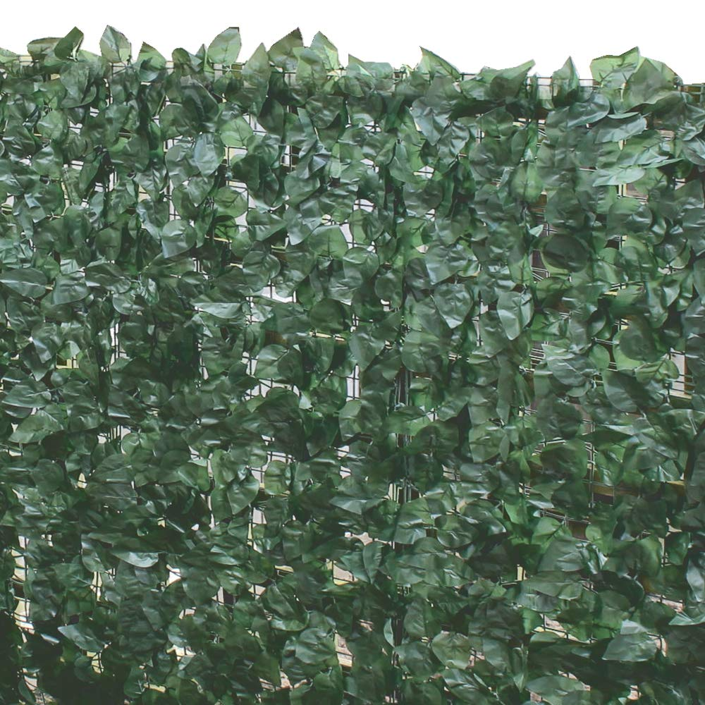 True Products Ivy Artificial Screening Leaf Hedge Panels On Roll Privacy Garden Fence, Green, 1.5m x 3m