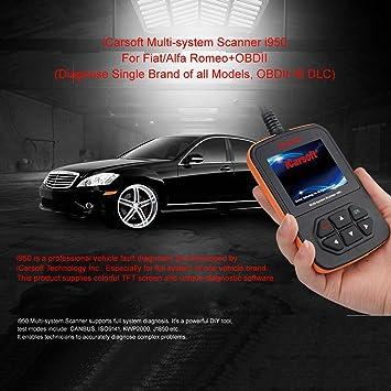 Fiat y Alfa Romeo OBD2 escáner de diagnóstico Herramienta Borrar Códigos de Error - iCarsoft I950: Amazon.es: Coche y moto