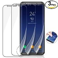 [3 Pack] Pellicola Protettiva Samung Galaxy S8, Leathlux Hydrogel Pellicola Protettiva Non di Vetro Temperato No-Bolla Anti-graffio Protector Film per Samsung Galaxy S8