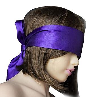 HCFKJ Sexo Juguetes Mujer Venda Fetiche Ojos MáScara SM Bondage Ataduras para Coquetear Parejas Sexo Juegos (Morado): Amazon.es: Ropa y accesorios