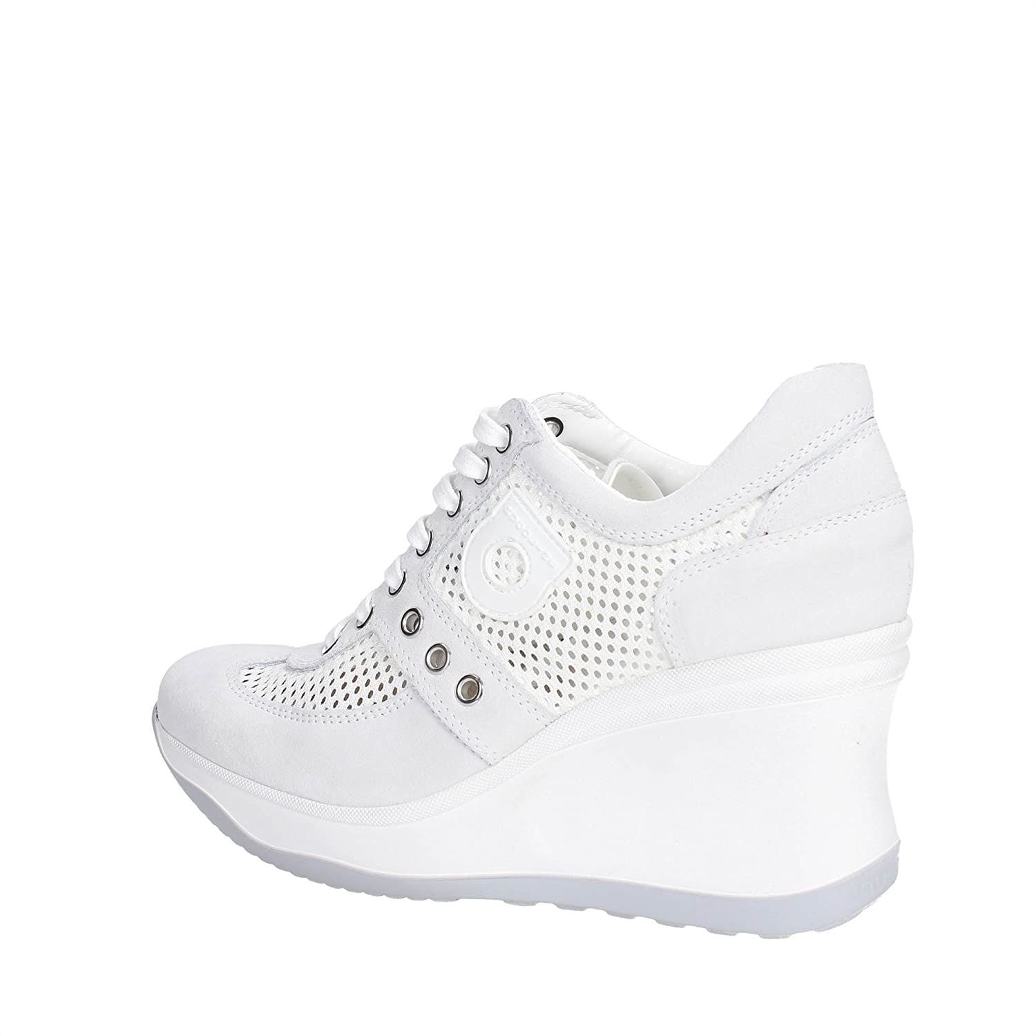 AGILE BY RUCOLINE LINE 1800-82627 1800 A LEON Turnschuhe Turnschuhe Turnschuhe Wedges WEDGE MITTEL HOCH NEUE KOLLEKTION FRÜHLING SOMMER 2016 LEDER WEISS 7fb5a5