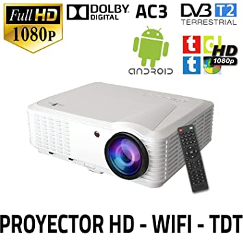 proyector Unicview HD250 con WiFi, Android, TDT, USB, HDMI, AC3, 2 ...