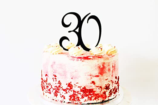 30 40 50 60 70 80 90 decoración para tarta de cumpleaños con ...