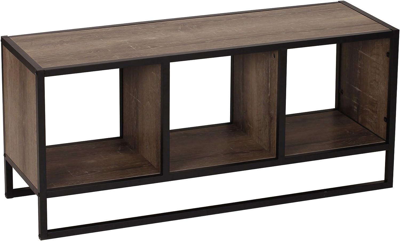 Household Essentials Ashwood Storage Shelf Coffee Table,