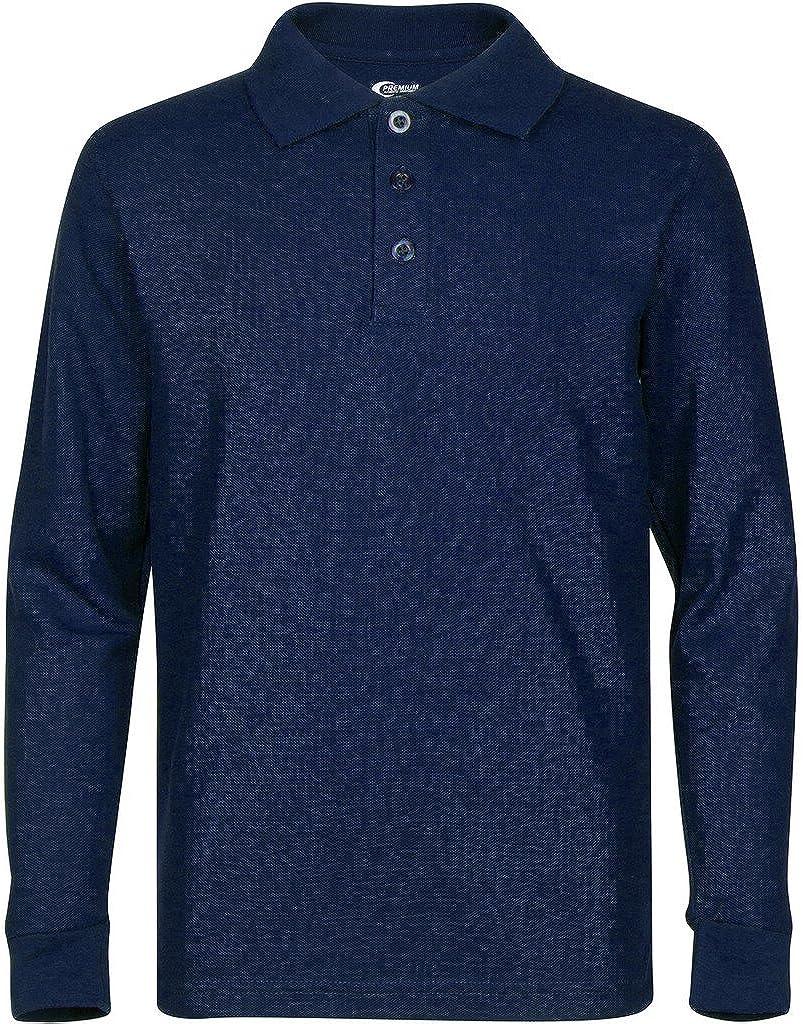 Stain Guard Polo Shirts for Men Premium Men/'s Long Sleeve Polo Shirts