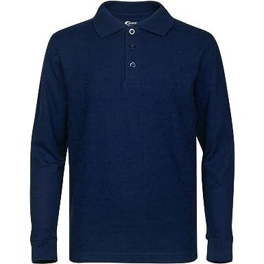 PREMIUM Men's Long Sleeve Polo Shirts - Stain Guard Polo Shirts ...