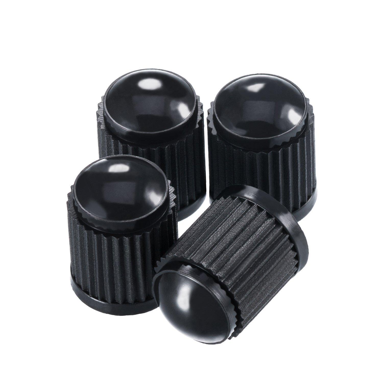 KURAMI 100Pcs Tire Valve Stem Caps+100Pcs Tire Valve Stem Cores Part Replacement Car Truck Motorcycle Bike