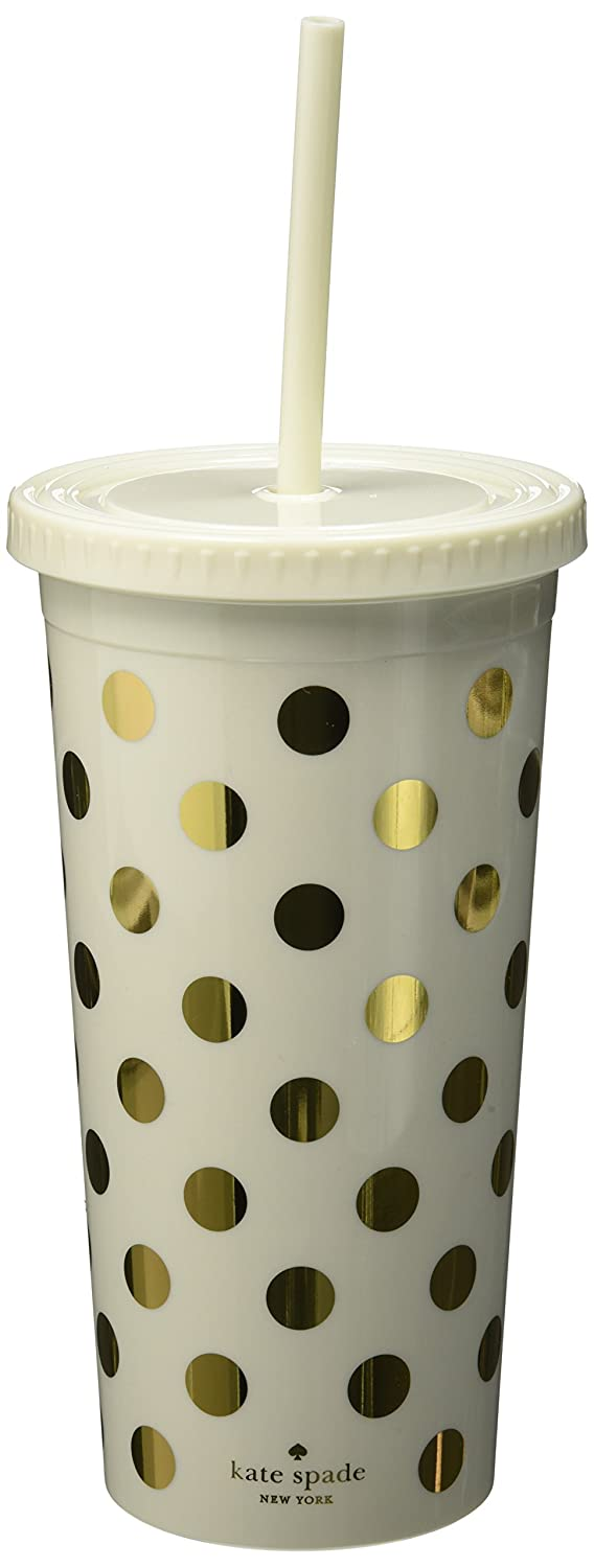 Kate Spade Gold Dots Insulated Tumbler: Amazon.co.uk: Kitchen & Home