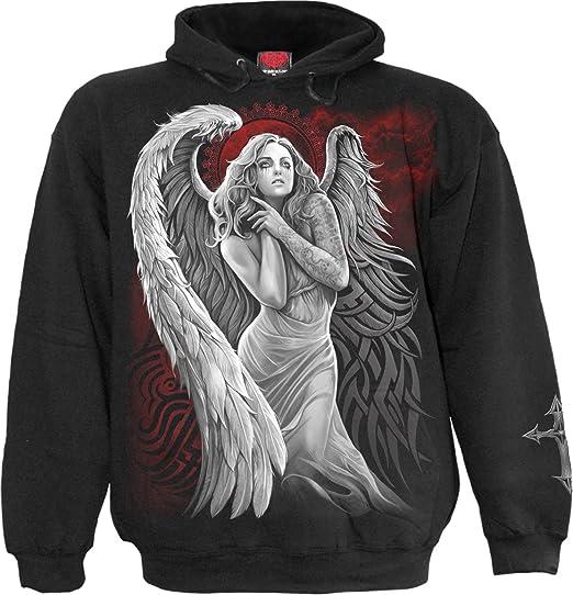SPIRAL DIRECT ANGEL DESPAIR White T-Shirt,Biker//Loved//Goth//Angel//Blessed//Top