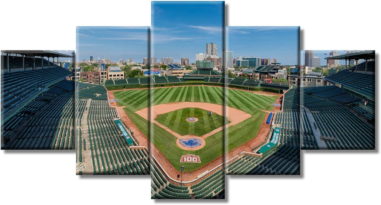 Wrigley Field Bleacher View Gallery Wrapped Canvas