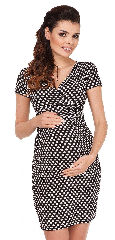 Zeta Ville - Umstands-kleid Punktemuster - Schwangerschafts Kleid - Damen - 018c