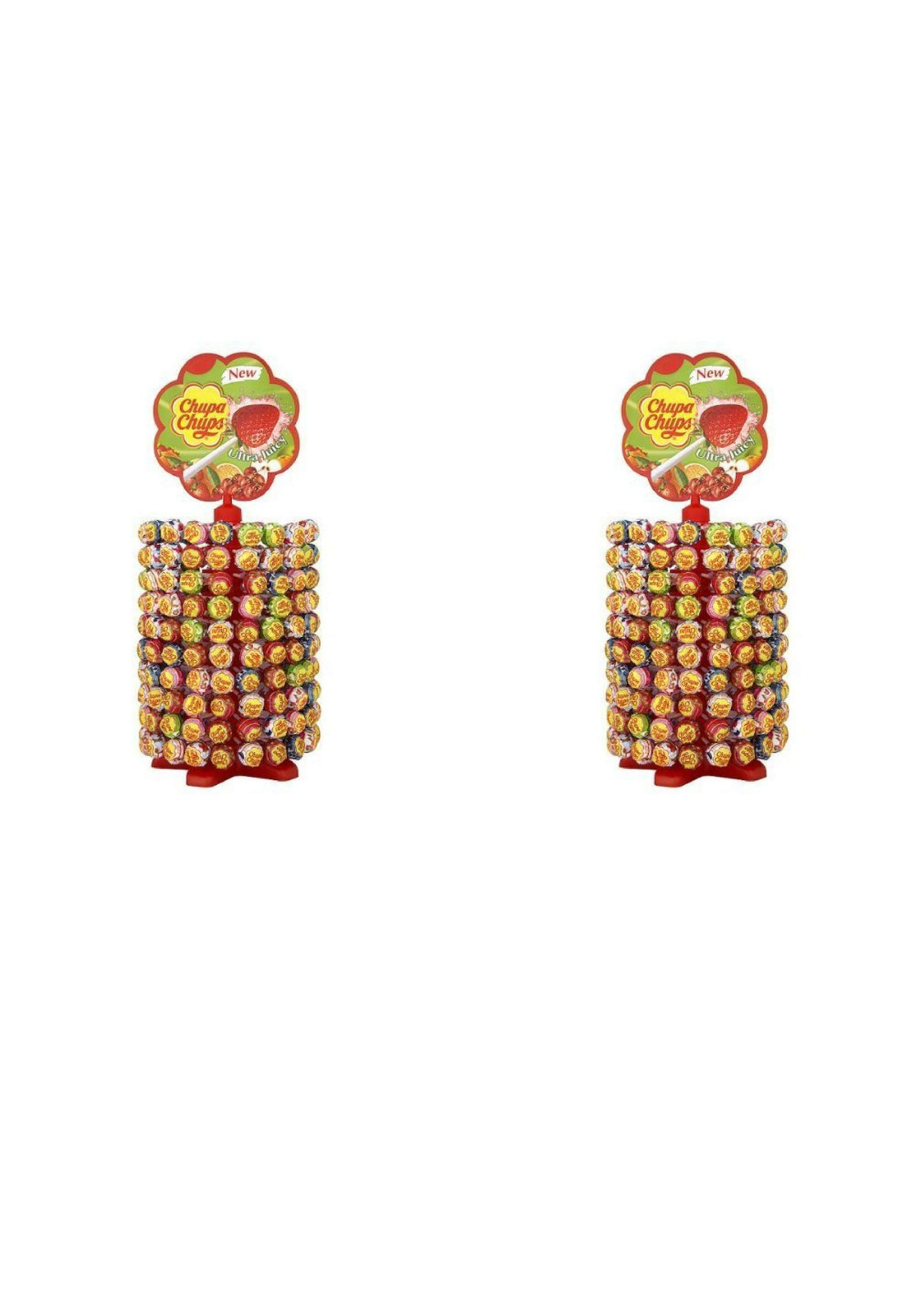 Chupa Chups Display with 200 Assorted Lollipops (2 Pack)