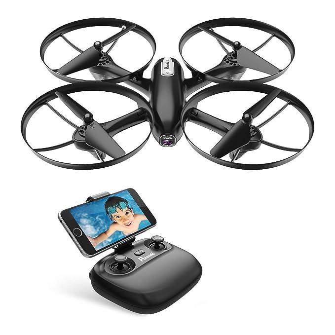 Potensic RC Drone Cuadricóptero FPV, WiFi, Dron con Cámara HD 720P, Camera y Vídeo en Tiempo Real, para Niños y Principantes, Mantenimiento de Altitud, Modo Sin Cabeza, etc, U47 actualizado