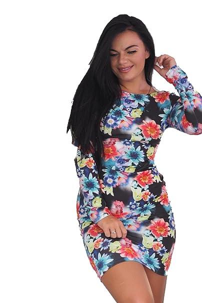 Ex-Chain Store Brands Floreale Abito Lungo Bodycon Manica  Amazon.it   Abbigliamento b44a883279d