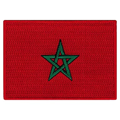 Amazon.com: Marruecos Bandera Bordado Patch Iron-On marroquí ...