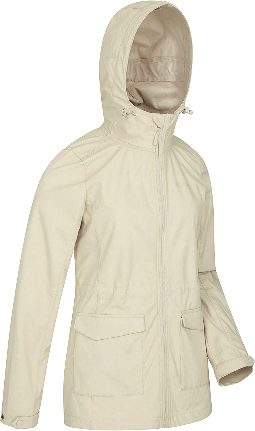 for Winter Adjustable Fit Ladies Soft Shell Front Pockets Water Resistant Rain Jacket Travelling Mountain Warehouse Pines Womens Softshell Jacket Chin Guard