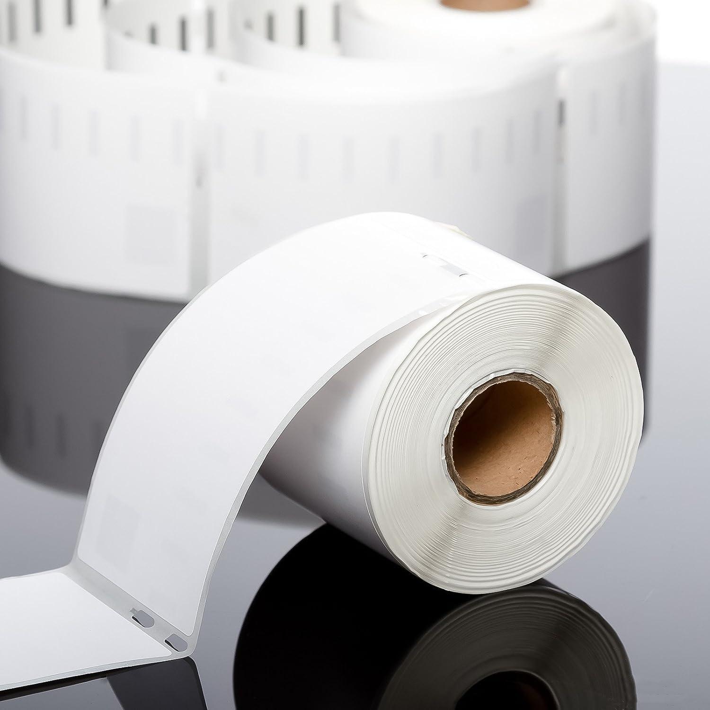 con 220 etichette 54 x 101 mm colore bianco codice articolo 99014 Carta permanente compatibile con loriginale al 100 /%. rotolo di etichette Dymo iTX24