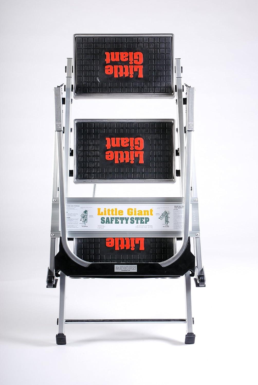 Little Giant Strapazierf/ähige Sicherheitstrittleiter 2 Tread - Starke Kompakte Konstruktion f/ür den Industriellen Gebrauch Hergestellt In Den USA - Platzsparende Trittleiter Beansprucht Nur 127 mm Platz