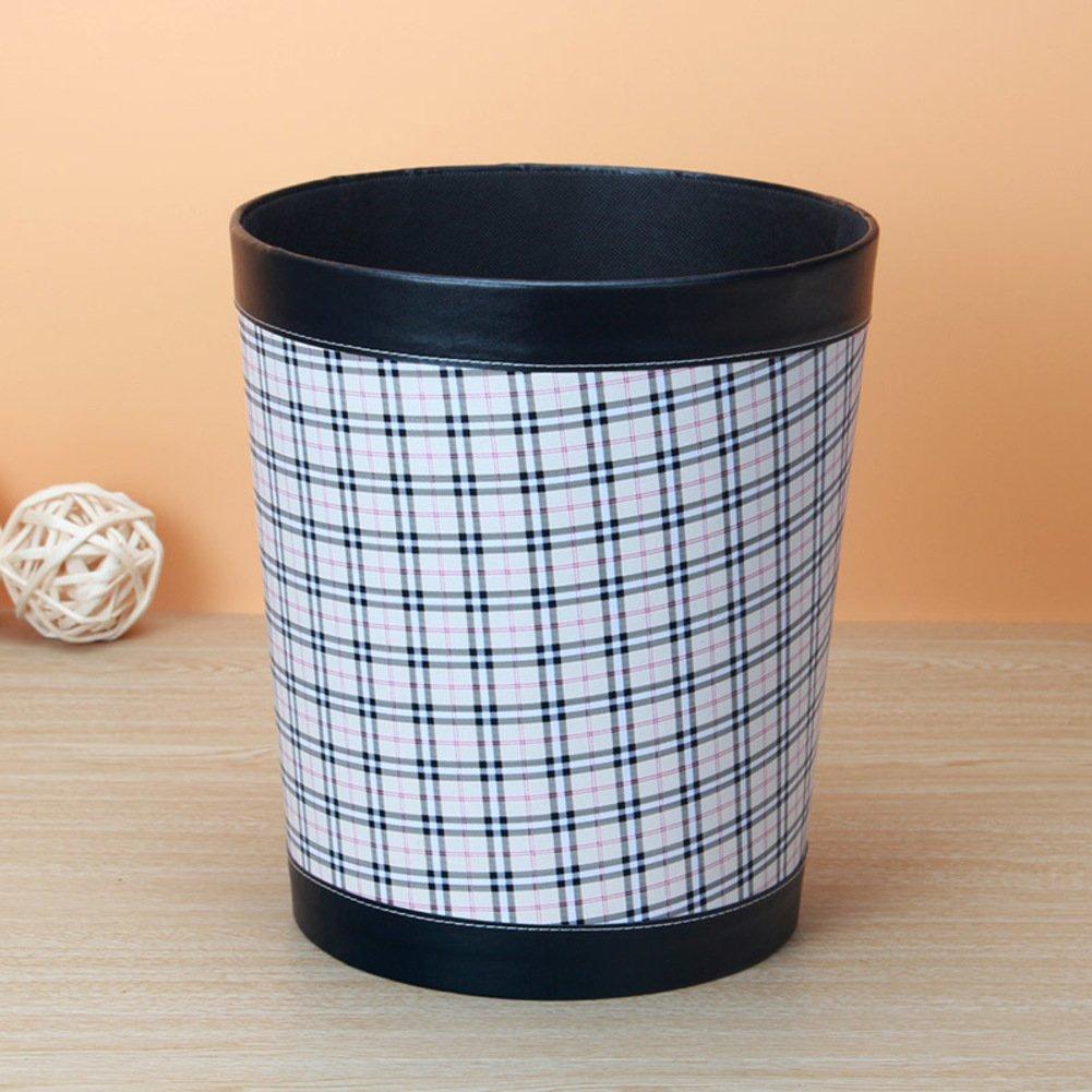 PEIISFUGB Cuir de modèle de mode  corbeille baril poubelle poubelles creative desktop salle de séjour des ordures ménagères européennes-A YAFDSTJVSE