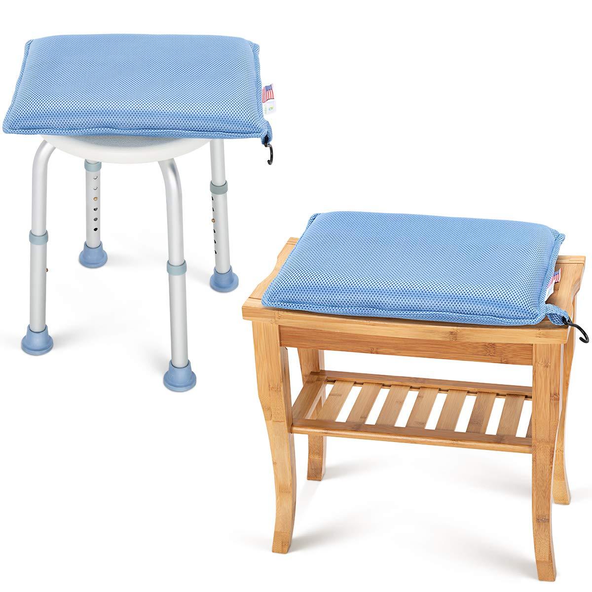 OasisSpace Shower Chair Cushion, Transfer Bench Shower Stool Bath Seat Cushion for Elderly, Senior, Handicap & Disabled, Soft