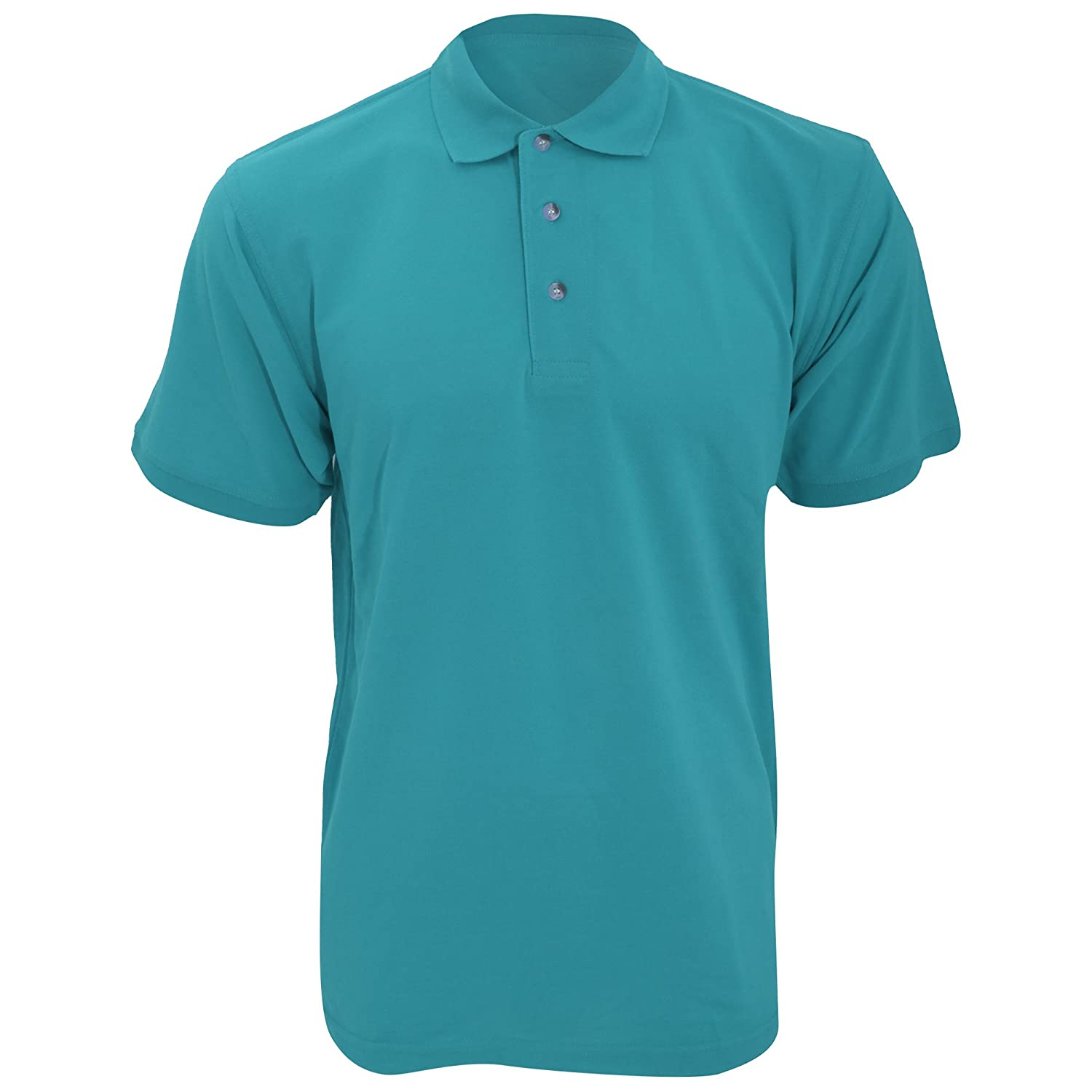 Kustom Kit Workwear Mens Short Sleeve Polo Shirt (3XL) (Aqua) UTBC606_6