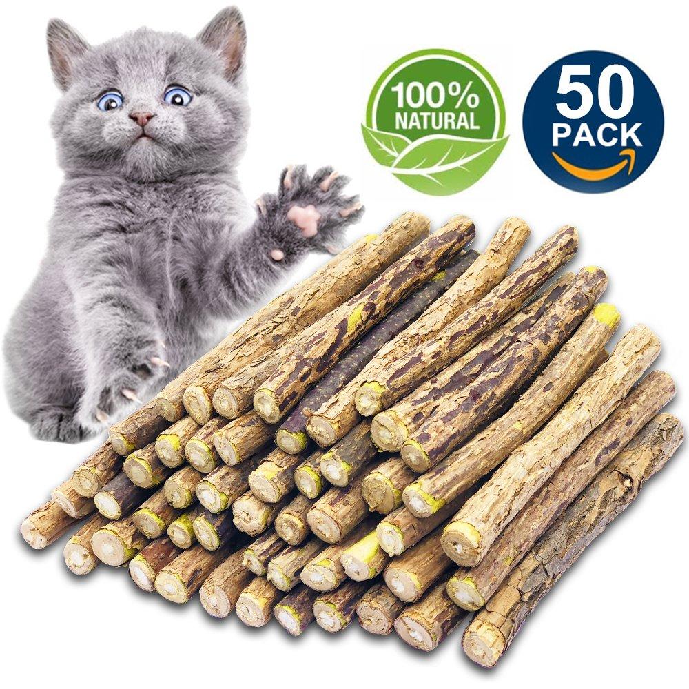 Amazon.com : Matatabi Cat Catnip Sticks 25 Pcs or 50 pcs Cat Chew ...