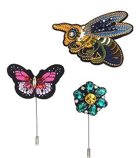 Ella Jonte Brosche Biene Blume und Schmetterling 3er Set Broschen  Ziernadeln Trend 93554ec457