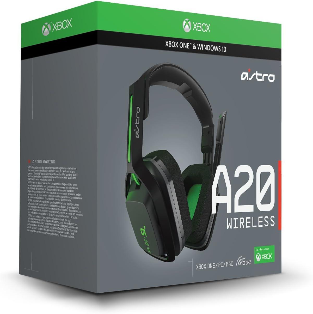 Amazon.com: ASTRO Gaming A20 Wireless Headset, Black/Green - Xbox ...