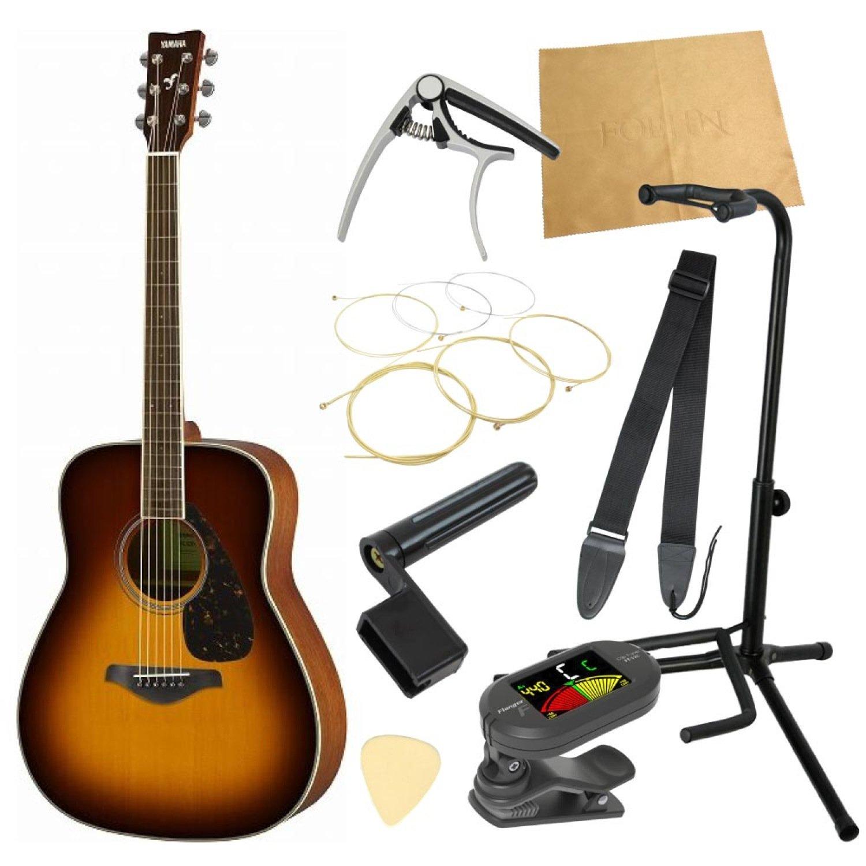 ヤマハから始める!大人のアコギ入門セット YAMAHA FG820 BS アコースティックギター 9点セット   B01CQIIKCS