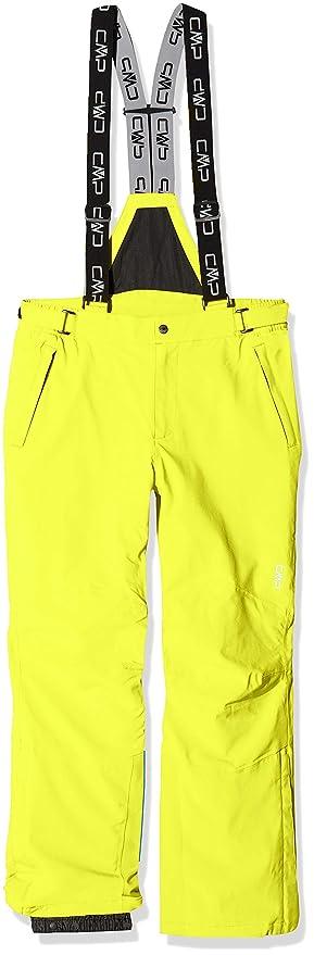 Ropa de esquí neon hombre amarillo